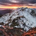 Slovakia Tatras - Winter mountain panorama — Stock Photo