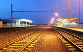Passenger train station — Foto Stock