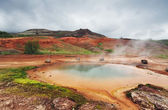 Geothermal hot water at the geysir district — 图库照片