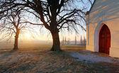 Nice Catholic Chapel in eastern Europe — Stock Photo