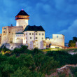 Castle in Trencin at night, Slovakia — Stock Photo