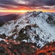 Slovakia Tatras - Winter mountain panorama — Stock Photo