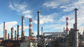 Oil refinery - factory — Stock Photo