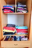 Closet - wardrobe, clothes — Stock Photo