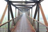Steel bridge for people — Zdjęcie stockowe