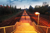 Railroad train platform - stair — Stock Photo