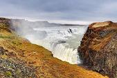 Vodopád gullfoss, island — Stock fotografie