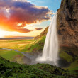 Waterfall, Iceland - Seljalandsfoss — Stock Photo