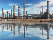 Fábrica petroquímica — Foto de Stock