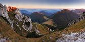 Slovakia mountain peak Rozsutec at sunset — Stock Photo