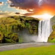 Iceland, waterfall - Skogafoss — Stock Photo