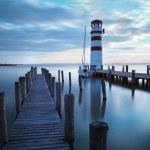 Ocean, sea pier - lighthouse — Stock Photo