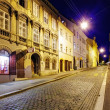 Street at night, Zagreb — Stockfoto