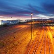 Railroad track at night — Stock Photo #39893015