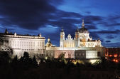 Almudena Cathedral and Royal Palace — ストック写真