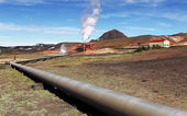 Geothermal power energy station — Stock Photo