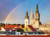 Cathedral in Zagreb — Stock Photo