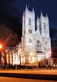 Westminster Abbey at night, London — Stock Photo
