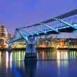 Millennium Bridge and Saint Paul Cathedral, London, UK — Stock Photo #40977127