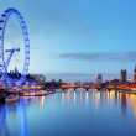 LONDON, UNITED KINGDOM - JUNE 19: London Eye on June 19, 2013 in — Stock Photo #40977617