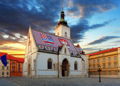 Zagreb church - St Mark — Stock Photo