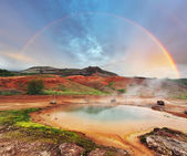 Geyser district in Iceland — Stock Photo