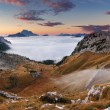 Beautiful summer landscape in the mountains. Sunrise - Italy Dol — Stock Photo #42658999