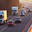 Highway with cars and Truck — Stock Photo #42659803