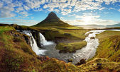 Panorama - Iceland landscape — Stock Photo