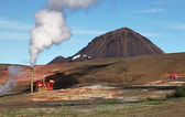 Geothermal Power Station - Turquoise Lake, Iceland — Stock Photo