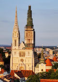 Zagreb, cathedral in Croatia — Stock Photo