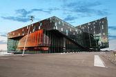 REYKJAVIK, ICELAND - JUNY 9: Twilight scene of Harpa Concert Hal — Stock Photo