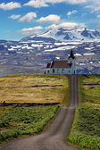 Old small wooden church in Hellnar Iceland — Stock Photo