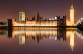 London at night - Houses of parliament, Big Ben — Stock Photo