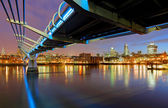 Millenium Bridge in London, England — Stock Photo