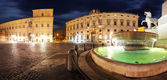 Rome - Palace Quirinale, panoramic view at night — Foto Stock