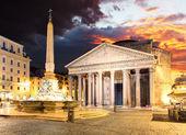 Pantheon - Rome at sunset — Stock Photo