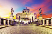Castel Sant Angelo from  bridge, Rome. — Stock Photo
