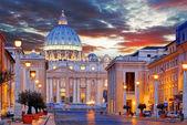 Vatican, Rome, St. Peter's Basilica — Stock Photo