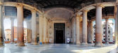 Pantheon - panorama with columns near entrance — Stock Photo