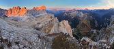 Panoramic view of Dolomiti Mountains - Group Tofana - Italy — Stock Photo