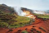 Geaothermal area Seltun near Krysuvik - Iceland — Stock Photo