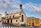 Banska Stiavnica, St. Katharine church, Slovakia. — Stock Photo