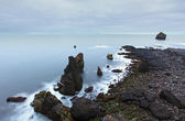 Coastal rocks on the south west point of Iceland, Reykjanes — Stock Photo