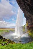 Island wasserfall - seljalandsfoss — Stockfoto