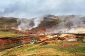 Seltun, Iceland - active volcanic area in Reykjanes peninsula — Stock Photo