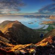 Norway Landscape panorama with ocean and mountain - Lofoten — Stock Photo #48036581