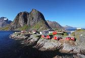 Norway village Reine — Stock Photo