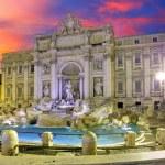 Roma - Trevi fountain, Italy — Stock Photo #48760145