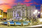 Roma - Trevi fountain, Italy — Stock Photo